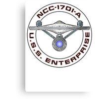 USS Enterprise Logo - Star Trek - NCC-1701-A (Movie Colour) Canvas Print