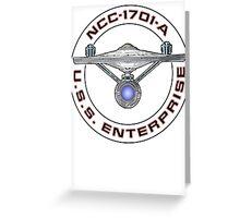 USS Enterprise Logo - Star Trek - NCC-1701-A (Movie Colour) Greeting Card