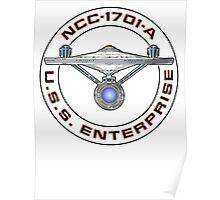 USS Enterprise Logo - Star Trek - NCC-1701-A (Movie Colour) Poster