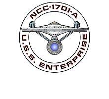 USS Enterprise Logo - Star Trek - NCC-1701-A (Movie Colour) Photographic Print