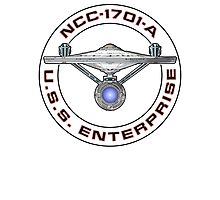 USS Enterprise Logo - Star Trek - NCC-1701-A (Movie Colour) Photographic Print