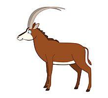 Cute cartoon antelope standing Photographic Print