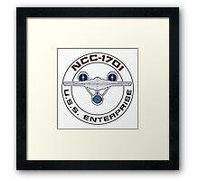 USS Enterprise Logo - Star Trek - NCC-1701 (Alternate Universe) Framed Print