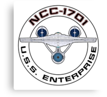 USS Enterprise Logo - Star Trek - NCC-1701 (Alternate Universe) Canvas Print