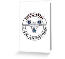 USS Enterprise Logo - Star Trek - NCC-1701 (Alternate Universe) Greeting Card