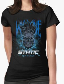 Static Skull Womens Fitted T-Shirt