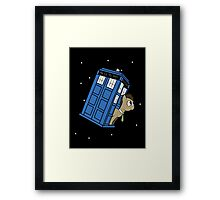 The Doctor and his TARDIS Framed Print