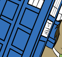 The Doctor and his TARDIS Sticker