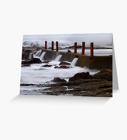 Seaside pool at Eden Greeting Card