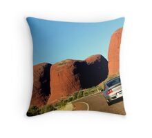 Fastest Way to the Olgas Throw Pillow