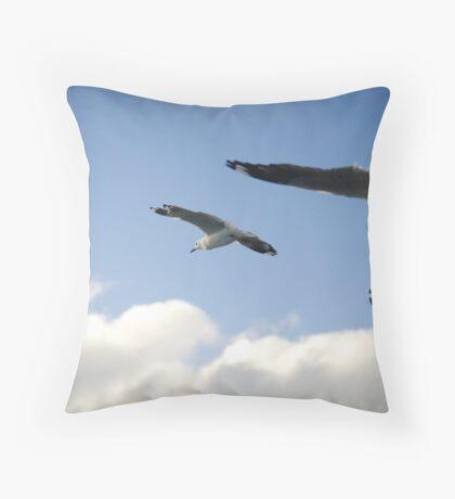 seagull squadron Throw Pillow