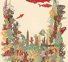 Coral Reef Papercut Collage by Hazel Partridge