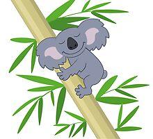 Happy smiling cartoon koala bear by berlinrob