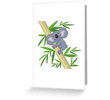 Happy smiling cartoon koala bear Greeting Card