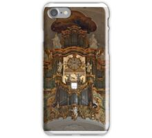 Church organ with mounted clock iPhone Case/Skin