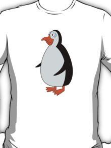 Cute smiling cartoon penguin standing T-Shirt