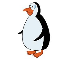 Cute smiling cartoon penguin standing Photographic Print