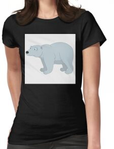 Adorable cartoon polar bear Womens Fitted T-Shirt