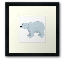 Adorable cartoon polar bear Framed Print