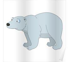Adorable cartoon polar bear Poster