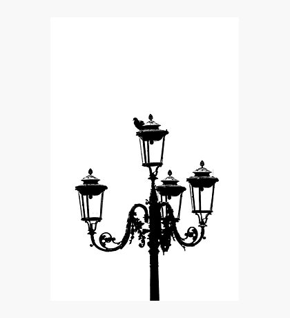 old street lamp Photographic Print