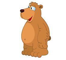 Cute smiling cartoon bear Photographic Print