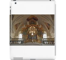 Church organ with mounted clock iPad Case/Skin