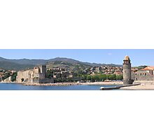 Collioure Harbour and Fort, France Photographic Print