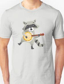 Funny raccoon playing the banjo T-Shirt