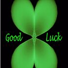 Four Leaf Clover (Good Luck Card) by C J Lewis