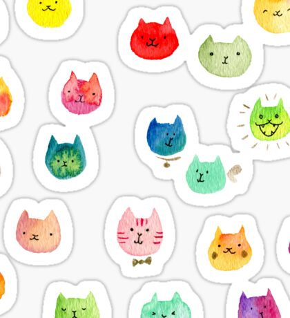 Cat confetti Sticker