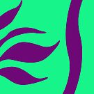 Mint Green with Purple by Julie Everhart by Julie Everhart