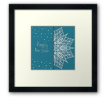 Christmas card with snowflakes  Framed Print