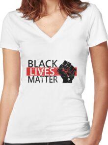 Black Lives Matter T-Shirt #blacklivesmatter Protest Women's Fitted V-Neck T-Shirt