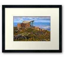 Pinnacle shelter at Mount Wellington Framed Print