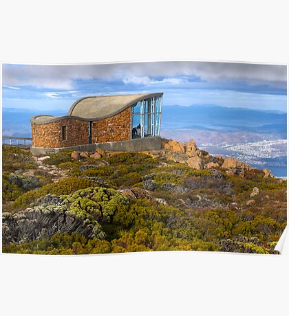 Pinnacle shelter at Mount Wellington Poster