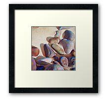 """""""Pallette of stones - Hallett Cove beach SA"""" - detail 2 Framed Print"""