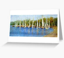 YACHTS ON THE POINT Greeting Card