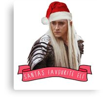 Santa's Favourite Elf - Thranduil Canvas Print