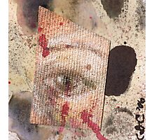Suspicion - watercolour, ink and pastel mixed media collage  Photographic Print