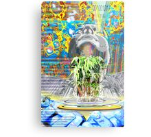 The New World- creating a hologram of life Metal Print