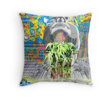 The New World- creating a hologram of life Throw Pillow