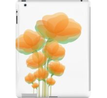 Cool Orange Flowers iPad Case/Skin