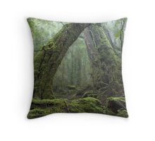 Ancient Rainforest Throw Pillow