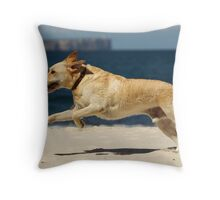 Max the wonder dog Throw Pillow