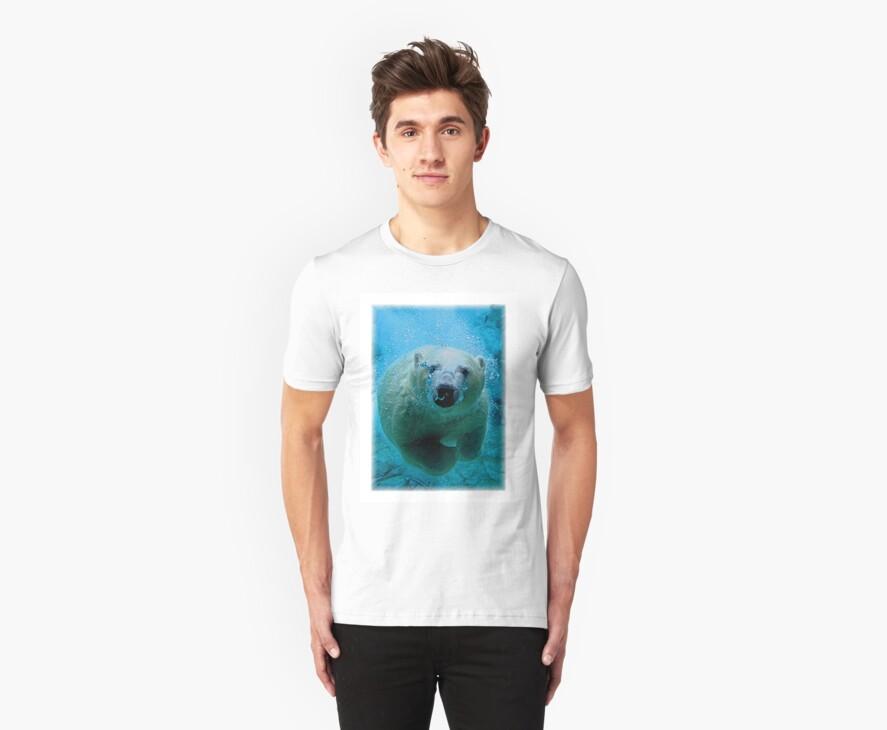 Polar Bear Dive T-Shirt by Mark Snelson