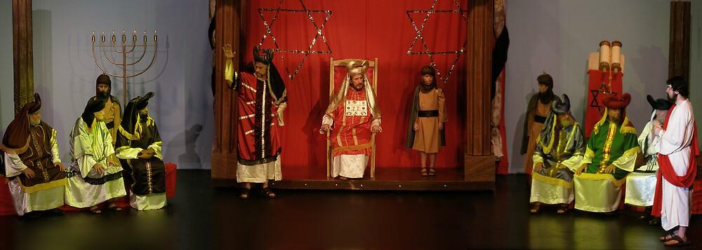 Sanhedrin interrogate Christ. by ionapassionplay