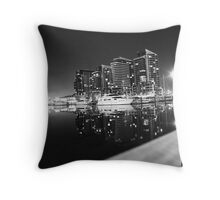 Dockland in Monochrome Throw Pillow