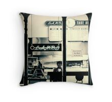 Late night supper Throw Pillow
