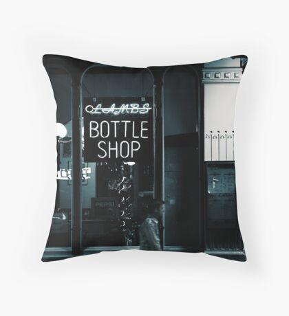 Bottle shop  Throw Pillow
